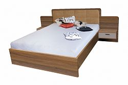 NajlacnejsiNabytok EFFECT manželská posteľ so stolíkmi EF3L