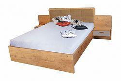 NajlacnejsiNabytok EFFECT manželská posteľ so stolíkmi EF4L