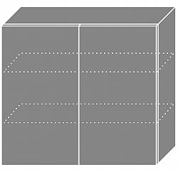 NajlacnejsiNabytok EMPORIUM horná skrinka W3/80, korpus biela »