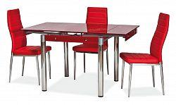 NajlacnejsiNabytok GD082 jedálenský stôl rozkladací, červený