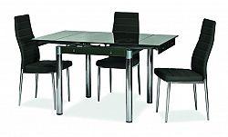 NajlacnejsiNabytok GD082 jedálenský stôl rozkladací, čierny