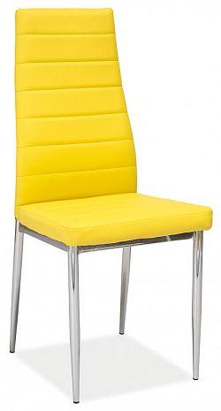 NajlacnejsiNabytok H-261 stolička čalúnená, žltá