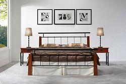 NajlacnejsiNabytok HIERO kovová manželská posteľ 180