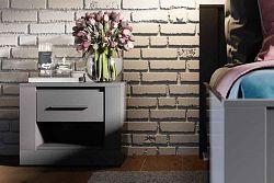 NajlacnejsiNabytok IDEA nočný stolík 07, sivá