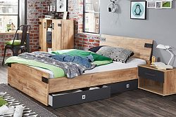 NajlacnejsiNabytok Jednolôžková posteľ LIVERPOOL 290 120x200 cm