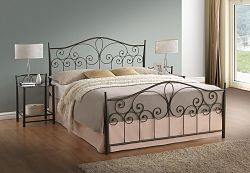 NajlacnejsiNabytok LILLE kovová manželská posteľ 180