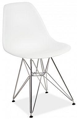 NajlacnejsiNabytok LINO plastová stolička, biela