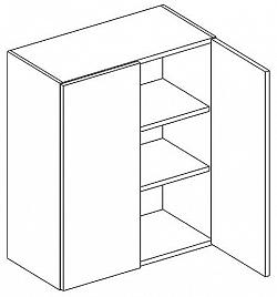 NajlacnejsiNabytok LUNGO/MACHIATO horná skrinka dvojdverová W60