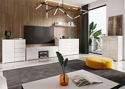 NajlacnejsiNabytok LYON obývačka na mieru, biely lesk