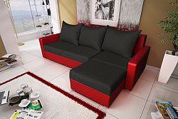 NajlacnejsiNabytok Malaga BIS rohová sedačka čierna/červená