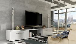 NajlacnejsiNabytok MALTON televízny stolík biely lesk