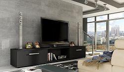 NajlacnejsiNabytok MALTON TV stolík čierny mat