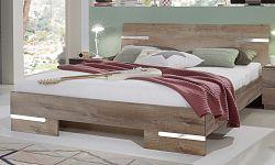 NajlacnejsiNabytok Manželská posteľ ANNA 293 dub muddy 180x200 cm