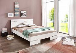 NajlacnejsiNabytok Manželská posteľ ANNA 351 alpská biela 160x200 cm