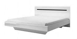 NajlacnejsiNabytok Manželská posteľ HEKTOR 31, biela/biely lesk 2498AJ31
