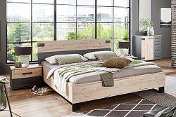NajlacnejsiNabytok Manželská posteľ MALMÖ 293 180x200 cm strieborná jedľa