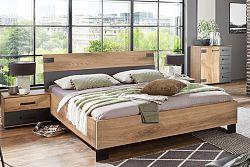 NajlacnejsiNabytok Manželská posteľ MALMÖ 351 160x200 cm dub planked