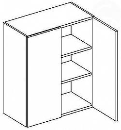 NajlacnejsiNabytok MERKURY horná skrinka dvojdverová W60