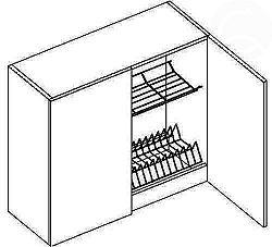 NajlacnejsiNabytok MERKURY horná skrinka s odkvapávačom W80 SZS