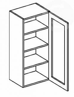 NajlacnejsiNabytok MERKURY vitrína stojaca na prac.doske W40W-120 CZ P/L