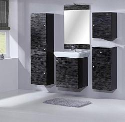 NajlacnejsiNabytok MEVA kúpeľňa, čierna