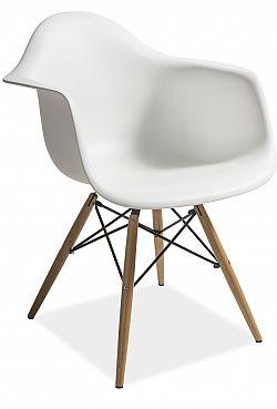NajlacnejsiNabytok MONDI plastová stolička, biela