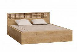 NajlacnejsiNabytok NATURAL N17 manželská posteľ 160 s roštom, mriežka