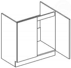 NajlacnejsiNabytok NORA dolná skrinka pod drez D80ZL