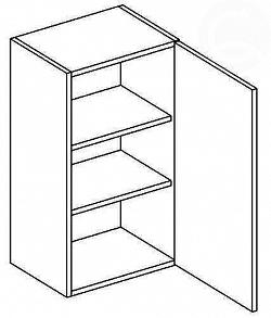NajlacnejsiNabytok NORA horná skrinka jednodverová W40 P/L