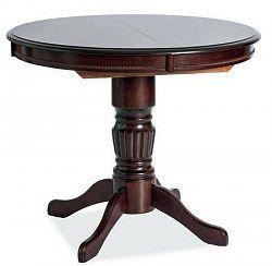 NajlacnejsiNabytok Okrúhly jedálenský stôl rozkladací MARGO, tmavý orech