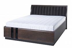 NajlacnejsiNabytok PORTI 76 manželská posteľ 160, carabu 33/dub čokoládový