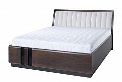 NajlacnejsiNabytok PORTI 76 manželská posteľ 160, carabu 60/dub čokoládový