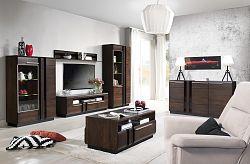 NajlacnejsiNabytok PORTI obývačka na mieru, dub čokoládový