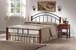 NajlacnejsiNabytok PORTO manželská posteľ 160x200 cm, kov a drevo