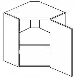 NajlacnejsiNabytok POSNANIA horná rohová skrinka WR60PL