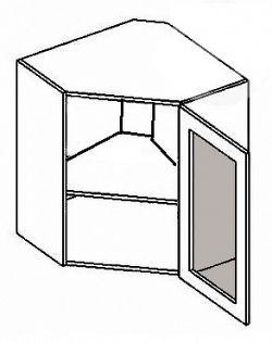 NajlacnejsiNabytok POSNANIA horná rohová vitrína WR60W-SM