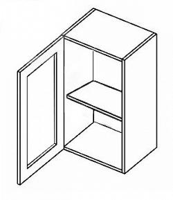 NajlacnejsiNabytok POSNANIA horná vitrína W40W, číre sklo