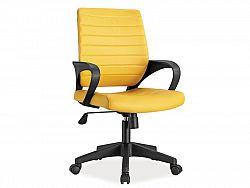 NajlacnejsiNabytok Q-051 kancelárske kreslo, žlté