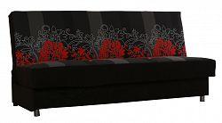 NajlacnejsiNabytok SALSA rozkladacia pohovka, červené kvety