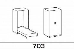 NajlacnejsiNabytok Sklápacia posteľ JUIST 703 90x200 cm