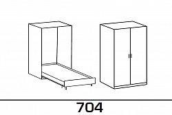 NajlacnejsiNabytok Sklápacia posteľ JUIST 704 120x200 cm