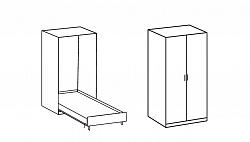 NajlacnejsiNabytok Sklápacia posteľ JUIST 705 140x200 cm