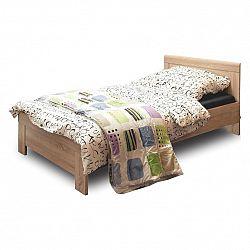 NajlacnejsiNabytok SOLO jednolôžková posteľ 90, dub sonoma