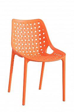 NajlacnejsiNabytok TERRY plastová stolička, oranžová »