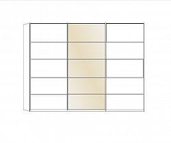 NajlacnejsiNabytok TOLEDO 421 480 skriňa s posuvnými dverami 250 zrkadlo