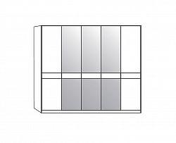 NajlacnejsiNabytok TOLEDO 421 595 šatníková skriňa 250 zrkadlo