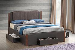 NajlacnejsiNabytok TRIGLAV 160 čalúnená manželská posteľ »