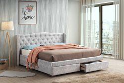 NajlacnejsiNabytok VELLUTI 180 čalúnená posteľ so šuplíkom
