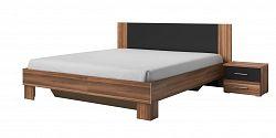 NajlacnejsiNabytok VERA posteľ 180 s nočnými stolíkmi orech červený/čierna 229SDH5