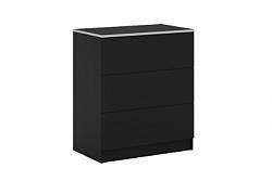 NajlacnejsiNabytok VISTA komoda D3, čierna